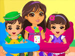 Play Dora Twins Babysitter