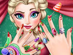 Play Elsa Christmas Manicure