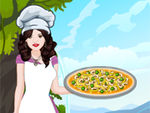 Play Selena Cooking Hummus Pizza
