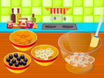 Play Cooking Banana Blueberry Pudding
