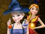 Play Elsa and Anna Superpower Potions