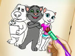 Play Tom and Angela Coloring Book