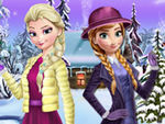 Play Elsa And Anna Winter Dress Up