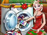 Play Elsa Washing Christmas Toys