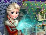 Play Frozen X mas House Makeover