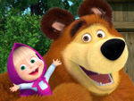 Play Masha and the bear puzzle