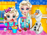 Play Baby Elsa Caring Slacking