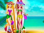 Play Elsa and Rapunzel Swimsuits Fashion
