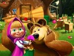 Play Masha and the Bear house decoration