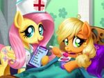 Play Applejack Stomach Care