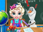 Play Baby Elsa School Time