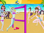 Play Princess Vs Monster High Beach Volleyball