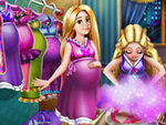Play Barbie and Rapunzel Pregnant Wardrobe