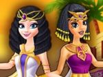 Play Elsa and Jasmine shopping in Egypt
