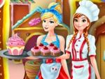 Play Anna and Cinderella at the Cupcakes Factory