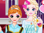 Play Elsa and Anna makeup party