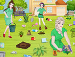 Play Princesses Go Green Clean Up