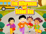 Play Five Differences With School Bus