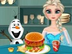Play Elsa Cooking Hamburger